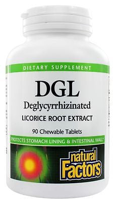 Natural Factors DGL Licorice 400 mg - ACID REFLUX & HEARTBURN RELIEF - PICK SIZE