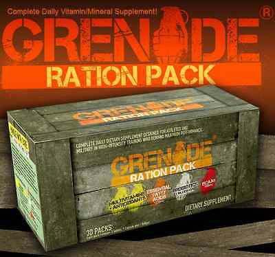 Grenade RATION PACK 30ct MultiVitamins Probiotics MUSCLE VITAMINS 30-Day Supply