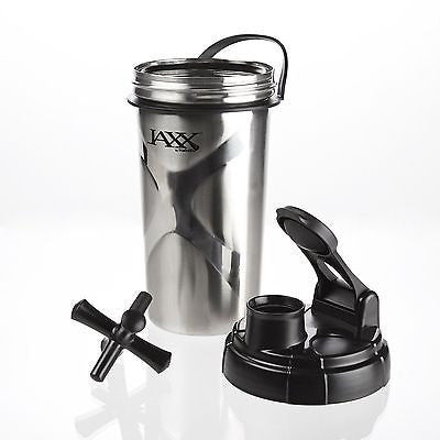 Fit & Fresh JAXX STAINLESS STEEL 24oz Shaker Blender Cup LARGE BOTTLE No BPA