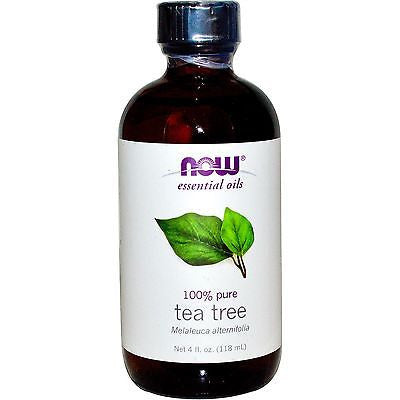 NOW Foods 100% Pure TEA TREE OIL - 4 oz (118 ml) Melaleuca NATURAL ANTISEPTIC