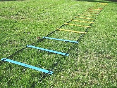 30 Foot Adjustable AGILITY LADDER Soccer Football SPEED Footwork FITNESS TRAINER