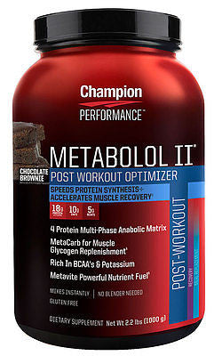 Champion Nutrition METABOLOL II Protein 2.2 lbs Boost Muscle Mass & Recovery