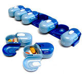 Fit & Healthy 7 DAILY PORTABLE PILL PODS Pills Meds Supplements AM/PM DISPENSER