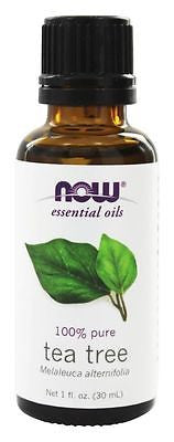 NOW Foods 100% Pure TEA TREE OIL - 1 oz (30 ml) Melaleuca NATURAL ANTISEPTIC
