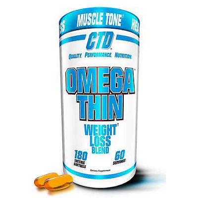 CTD Sports OmegaThin Natural Fat Burner Weight Loss -180 Softgels MUSCLE TONE