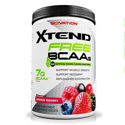 Scivation Xtend FREE BCAAs Intra Workout Powder - 30 Servings - PICK FLAVOR