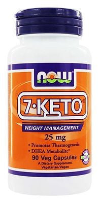 Now Foods - 7-Keto Weight Loss 25mg - 90 caps - Energy AntiAging Memory Immunity