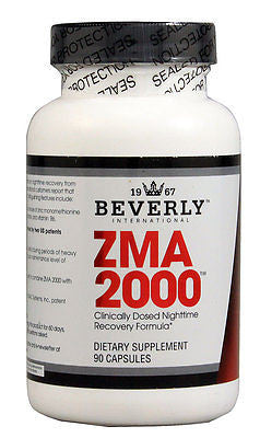 Beverly International ZMA 2000 Nighttime Recovery Formula - 90 caps Zinc B6 IMPROVE SLEEP