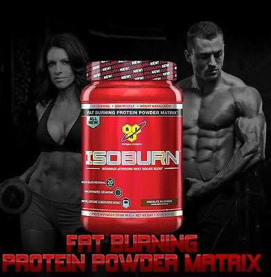 BSN ISOBURN Protein 1.32lb FAT BURNING Whey Isolate 20g Protein CHOOSE FLAVOR