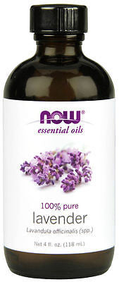 NOW FOODS 100% Pure Lavender Essential Oil 4 oz (118 ml) Calm - Sooth - Balance