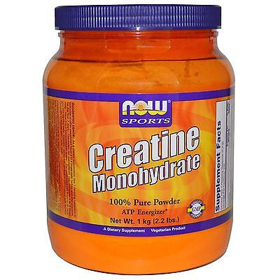 Now Foods Sports CREATINE Monohydrate Micronized Powder 2.2 lbs (1kg) 200 Serves