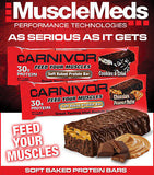 MuscleMeds CARNIVOR PROTEIN BARS Soft Baked Tastes Like Candybar Box of 12 30g Protein