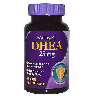Natrol DHEA 25mg Promotes a Balanced Hormone Level Energy Well Being 90 Tablets