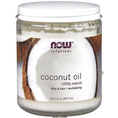 Now Foods 100% Pure COCONUT OIL 7 oz - Skin & Hair Revitalizing SUNTAN LOTION