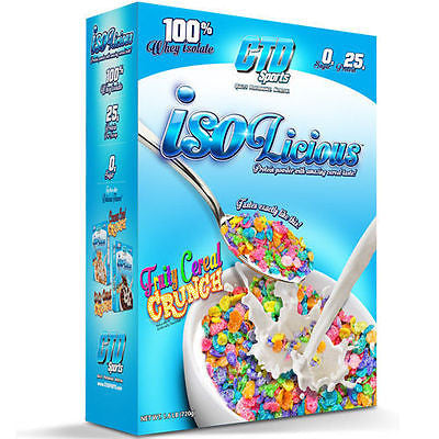 CTD Sports ISOLICIOUS 100% Whey Isolate Protein 1.6 LB CEREAL FLAVOR - 24 Serves