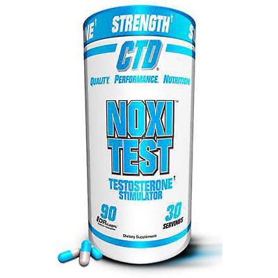 CTD Sports NOXITEST Testosterone Booster 90 caps BUILD MUSCLE Burn Fat
