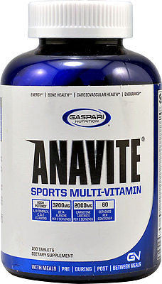Gaspari ANAVITE Sports MultiVitamin NEW FORMULA - 180 tablets MUSCLE VITAMINS