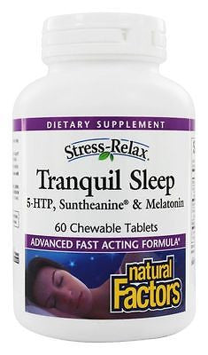Natural Factors Stress-Relax TRANQUIL SLEEP - 60 Chewable Tablets