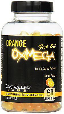 Controlled Labs Orange Oximega FISH OIL Citrus Flavor 120 SoftGels OMEGA-3