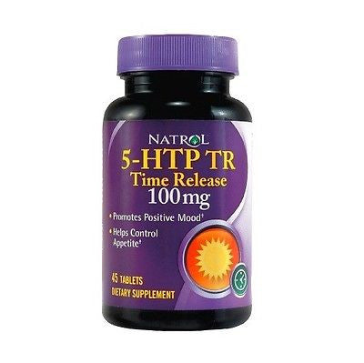 Natrol 5-HTP TR Time Release 100 mg Positive Mood Appetite Control 45 Tablets