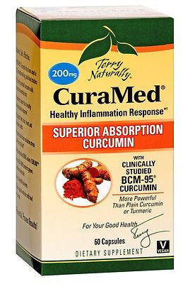 EuroPharma Terry Naturally CuraMed 200mg Curcumin 60 Softgels FIGHT INFLAMMATION