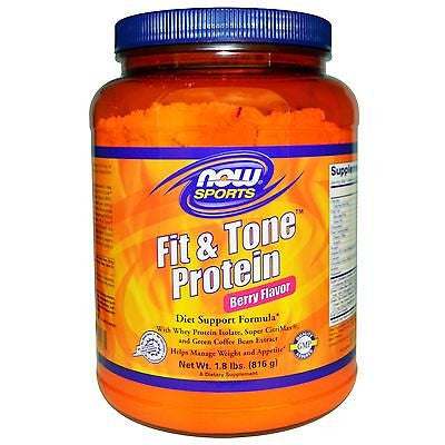 NOW Foods FIT & TONE PROTEIN Green Coffee Bean Weight Loss 1.8 lbs
