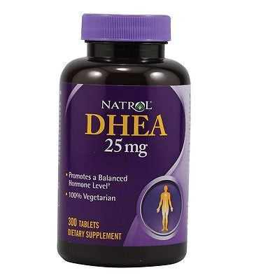 Natrol DHEA 25mg Promotes a Balanced Hormone Level Energy Well Being 300 Ct
