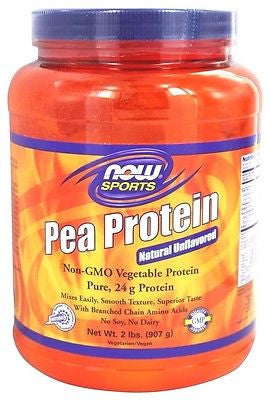Now Foods - PEA PROTEIN 100% Pure Non-GMO Vegetable Protein Unflavored - 2 lbs