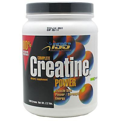 ISS COMPLETE CREATINE POWDER Creapure Monohydrate 400 or 1000 grams