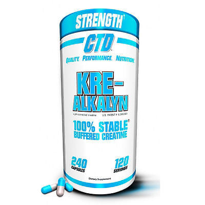 CTD Sports KRE-ALKALYN pH-Correct CREATINE - PICK SIZE - 120 or 240 capsules