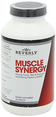 Beverly International MUSCLE SYNERGY 240 Tabs Creatine HMB Arginine BUILD MUSCLE