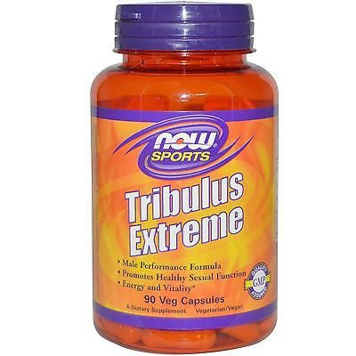 NOW Foods TRIBULUS EXTREME Testosterone Booster MACA 90 Veg Caps