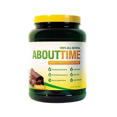 SDC ABOUT TIME 100% All Natural Whey Protein Isolate 2 lbs CHOOSE FLAVOR