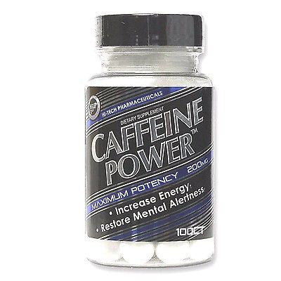 Hi-Tech Pharmaceuticals CAFFEINE POWER  200mg  Stimulant Energy - 100 tablets