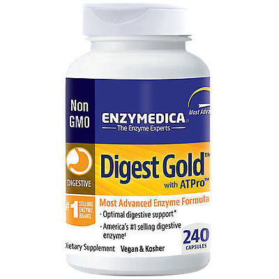 Enzymedica DIGEST GOLD Digestive Enzymes plus ATPro - 240 caps GUT HEALTH