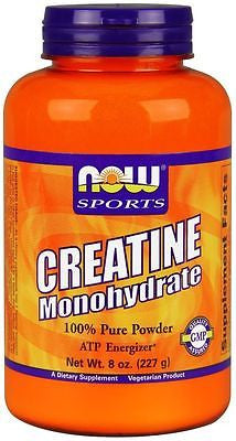 Now Foods Sports CREATINE Monohydrate Micronized Powder 8 oz (227g) 45 Servings