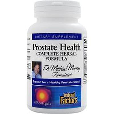 Natural Factors PROSTATE HEALTH Complete Herbal Formula - 60 Softgels