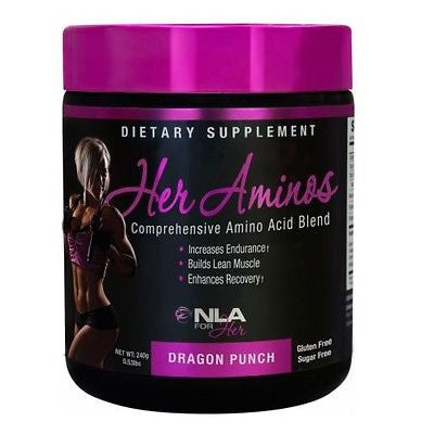 NLA For Her HER AMINOS  Amino Acid Drink BCAAs Glutamine 30 Servings PICK FLAVOR