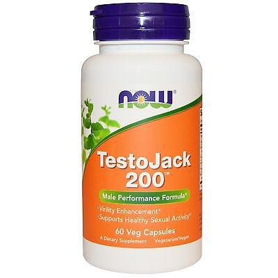NOW Foods TestoJack 200 Extra Strength Testosterone Booster 60 Veg Capsules