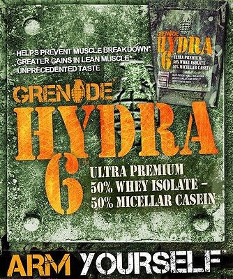 Grenade HYDRA 6 50% WHEY 50% CASEIN 2lb Lean Muscle 24g Protein CHOOSE FLAVOR