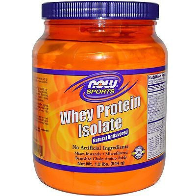 NOW Foods WHEY PROTEIN ISOLATE Pure Amino Acid 1.2 lbs UNFLAVORED