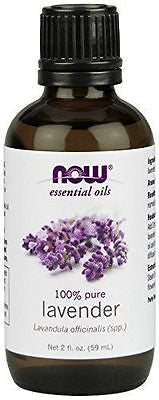 NOW FOODS 100% Pure Lavender Essential Oil 2 oz (59 ml) Calm - Sooth - Balance