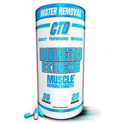 CTD Sports DIURETIC EXTREME Muscle Defining Water Removal - 80 caps - GET RIPPED