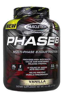 MuscleTech Phase8 Multi-Phase 8-Hour Protein 4.4 Lbs ALL FLAVORS