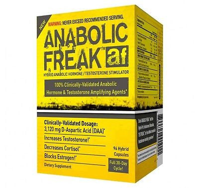 PharmaFreak ANABOLIC FREAK Boost Testosterone BLOCK ESTROGEN 96 capsules