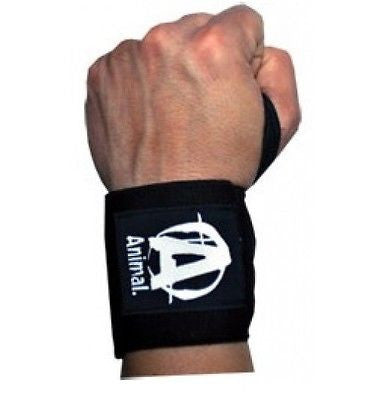Animal WRIST WRAPS Support for Heavy Weightlifting Exercises 1 PAIR BLACK