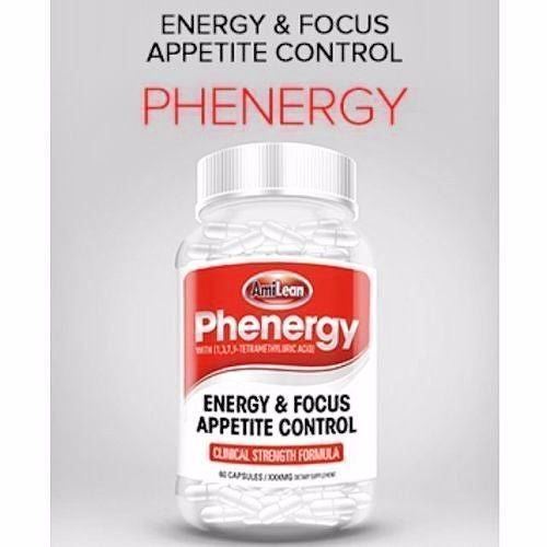 AmiLean PHENERGY Fat Burner Weight Loss ENERGY Focus Appetite Control - 60 caps