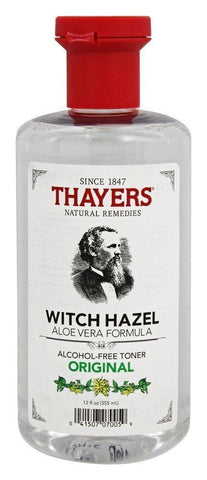 Thayers Witch Hazel Alcohol-Free Toner ORIGINAL Aloe Vera Formula - 12 oz