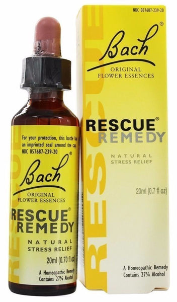 Bach Original Flower Remedies RESCUE REMEDY Drops - 20 ml NATURAL STRESS RELIEF