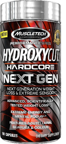 MuscleTech HYDROXYCUT HARDCORE NEXT GEN Thermogenic Fat Burner - 100 capsules